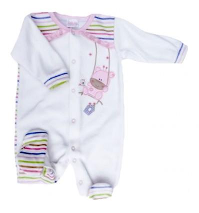 Pijama para bebé con rayas