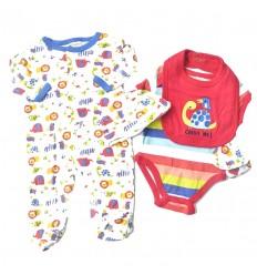 Conjunto para bebé niño - 5 piezas tortuga