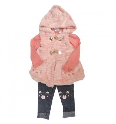 conjunto-para-niña-chaleco-peludo-rosa-oso
