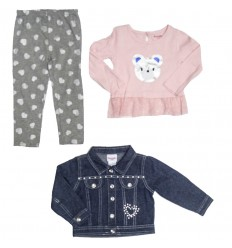 conjunto para niña - chaqueta jean osito