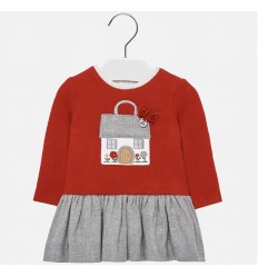vestido para niña - rojo casita