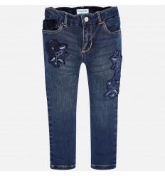 pantalon para niña - jean bordado