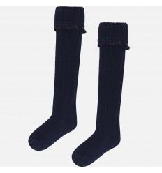 medias para niña - hasta la rodilla azul