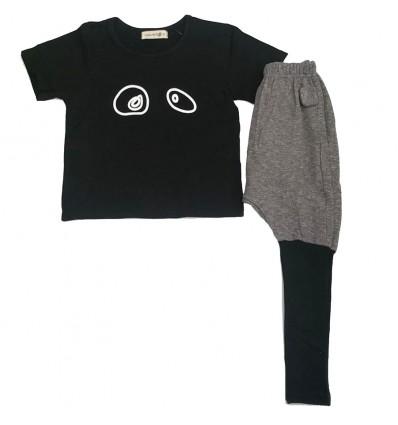 conjunto para niña - camisa panda