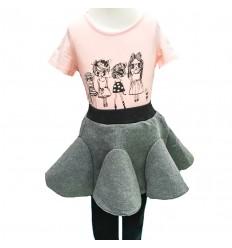 conjunto para niña - camisa rosa