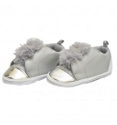 zapatos para bebe niña - color gris plata