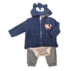 conjunto para bebe niño - zorrito azul