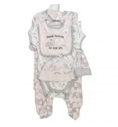 conjunto para bebe niña - elefante rosa