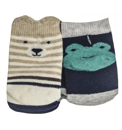 medias para bebe - oso sapo