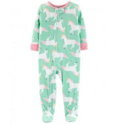 pijama para bebe niña - unicornio celeste