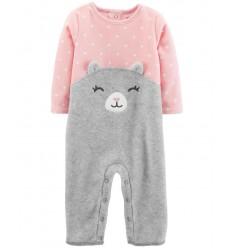 pijama para bebe niña - osita gris