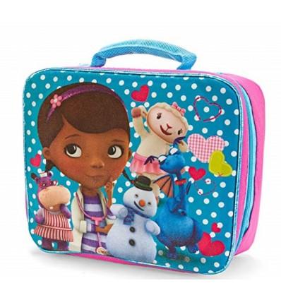 lonchera para niña - doctora juguetes azul