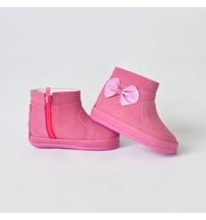 Botas rosada escarchada