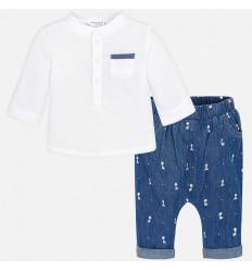 Conjunto camisa y pantalón largo bebé