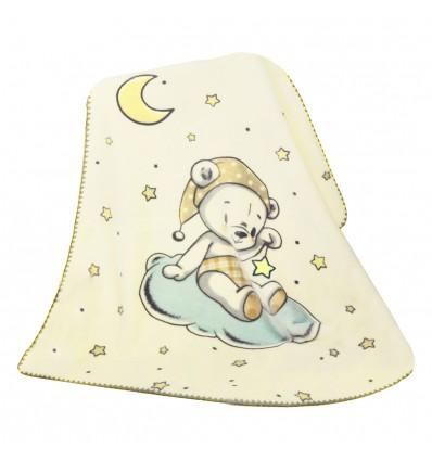 Cobija dibujos bordado bebé recién nacido