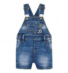 Overol corto en jean bebé niño