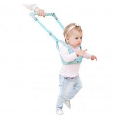 Soporte para aprender a caminar azul rey