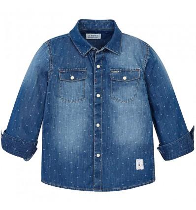 Camisa manga larga en jean niño