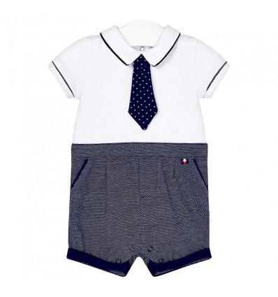 enterizo corto corbata bebé recién nacido