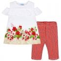 Conjunto leggings cortos con camiseta niña