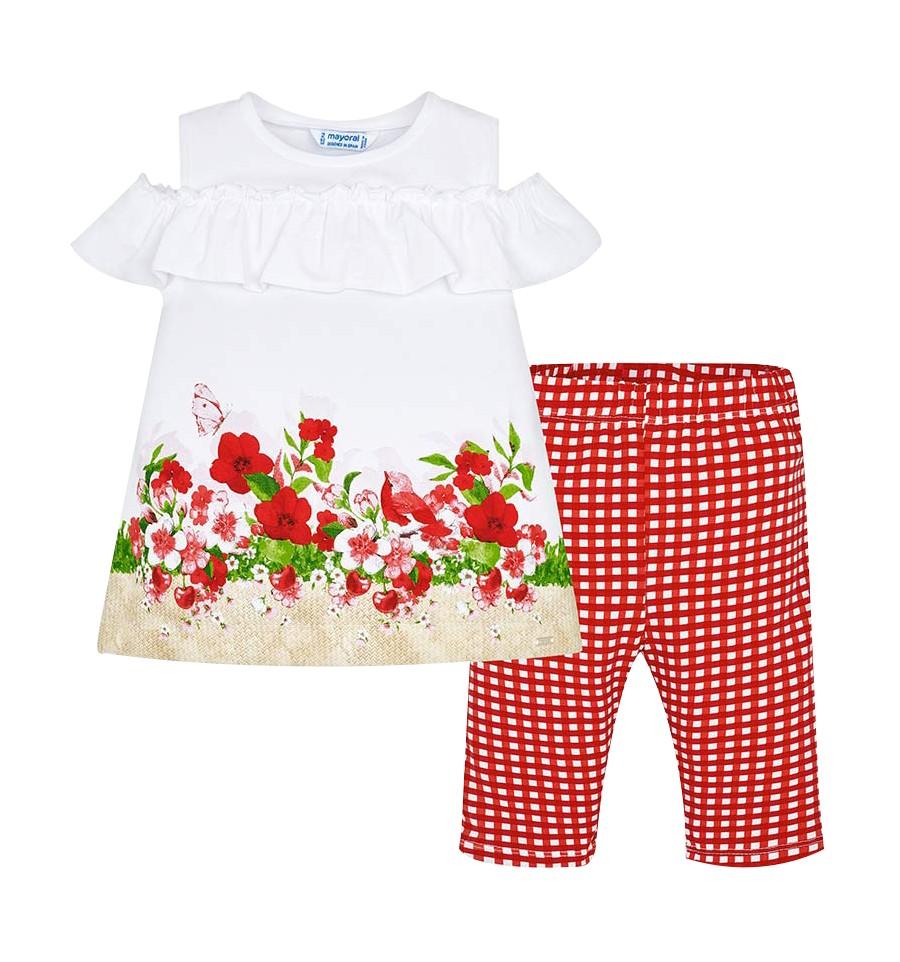 Mayoral Conjunto Leggings y Camiseta Rayas 3A-9A Rojo