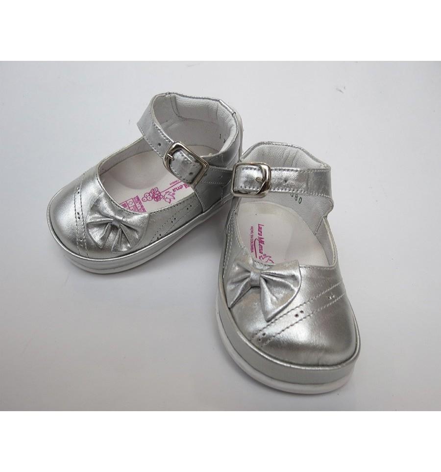 0f3269517 Zapato plateado para niña (caminadores