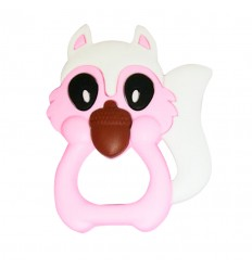 llamadientes para bebe ardillita rosa