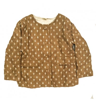 chaqueta-para-niña-outlet-mostaza
