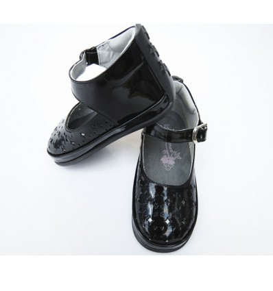 Zapato negro charol (caminadores, no tuerce)