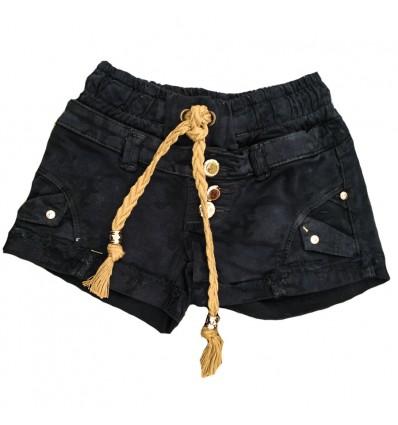 short-para-niña-outlet-negro-cordones