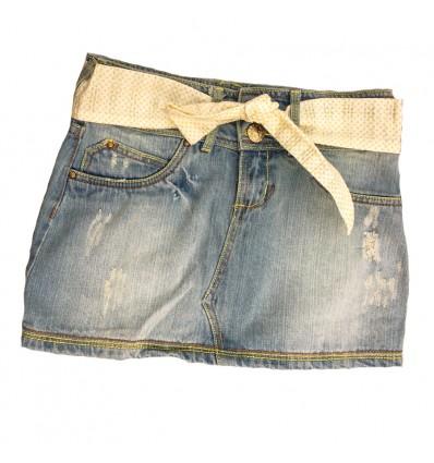 falda-para-niña-outlet-jean-cinturón-verde