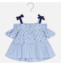 camisa-para-niña-mayoral-azul-estrellas