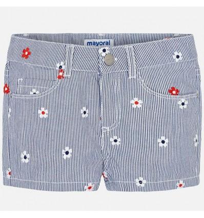 short-para-niña-mayoral-rayas-azules-con-flores