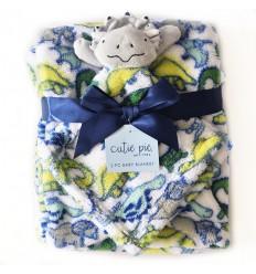 Cobertor para bebe dinosaurio