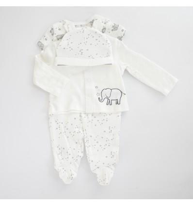 conjunto blanco con elefante