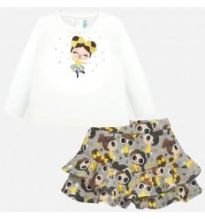 Conjunto para niña falda y shorts