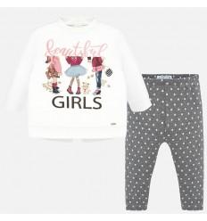 Conjunto de leggings para niña