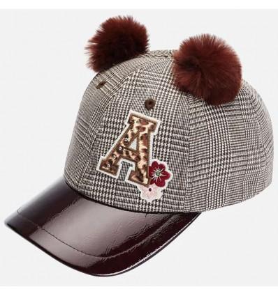Gorra de cuadros para niña