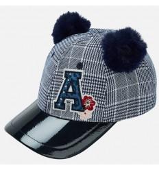 Gorra azul a cuadros