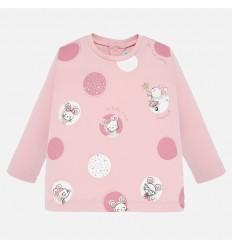 Camiseta para niña color rosa