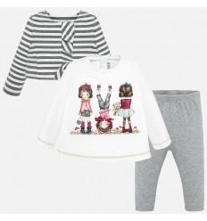 Vestido para bebe niña con arandela