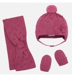 Conjunto de gorro manopla y bufanda para bebe