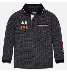 camisa polo para niño color gris