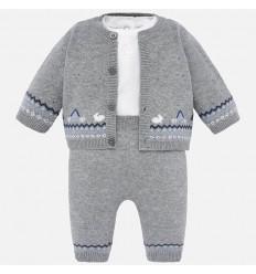 Conjunto para bebe overol y chaqueta