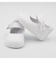 zapato no tuerce para niña blanco