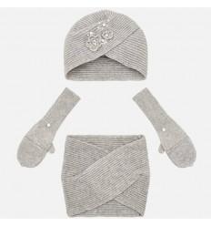 Conjunto para niño gorro y bufanda a rayas