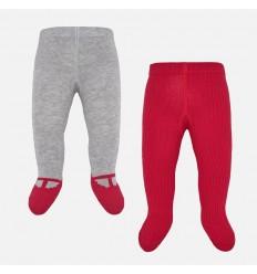 Medias pantalon cahimir para bebe niña set x 2