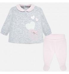 Conjunto para bebe niña 2 piezas Rosa baby