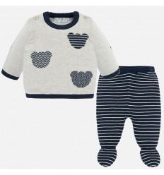 Pijama para bebe niña con moño