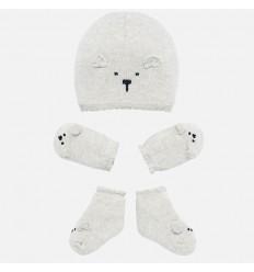 Set de gorros para bebe con oso